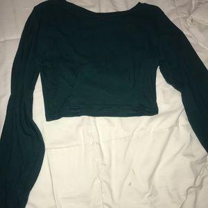 teal/ emerald green long sleeve